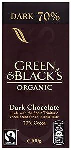 Green & Black's Organic Dark 70% Chocolate  100 g Pack of 5
