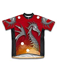 Red Fire Dragon Short Sleeve Cycling Jersey for Women