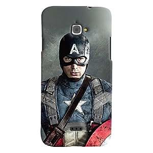 ColourCrust Infocus M350 Mobile Phone Back Cover With Captain America - Durable Matte Finish Hard Plastic Slim Case