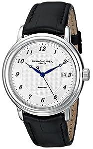 Raymond Weil Men's 2837-STC-05659 Maestro Analog Display Swiss Automatic Black Watch
