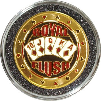 Cheap Hand Painted Poker Card Guard Protector - Royal Flush