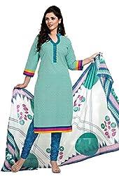 HIFI Ethnicwear Women's Dress Material(HIFI 3412_Green_Free Size)