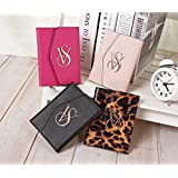 VICTORIA'S SECRET TRIFOLD TRAVEL PASSPORT COVER AND ID HOLDER 4 COLORS FITS ANY PASSPORT (BLACK) (Color: BLACK)