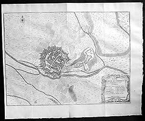 Freiburg im Breisgau Original Kupferstich engraving map