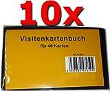 10x Visitenkarten-Buch im praktischen Kleinformat