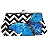 Harold Feinstein Clutch Purse Bag By - Bold Blue Butterfly