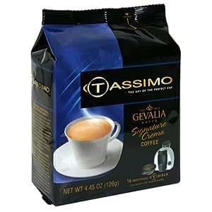 Amazon.com : Gevalia Signature Crema Coffee, T-Discs for Tassimo Hot Beverage System, 16-Count ...