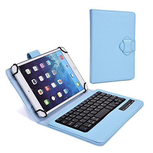 Cooper Cases (Tm) Infinite Executive Samsung Galaxy Tab S 10.5 (Amoled) / Lte Bluetooth Keyboard Folio In Baby Blue (Premium Pleather Cover, Built-In Stand, Removable Qwerty Keyboard, Rechargeable Battery)