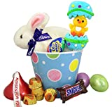 Clucking Cadbury Bunny Easter Basket Bucket with Assorted Candy