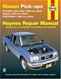 img - for Nissan Pick-ups: Frontier pick-ups (1998 thru 2004), Xterra (2000 thru 2004), Pathfinder (1996 thru 2004) (Haynes Repair Manual) book / textbook / text book