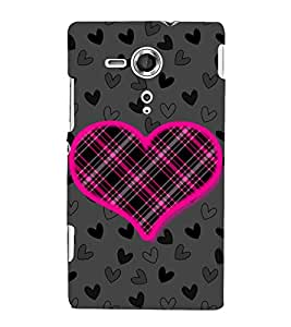 Net Love Heart 3D Hard Polycarbonate Designer Back Case Cover for Sony Xperia SP :: Sony Xperia SP M35h