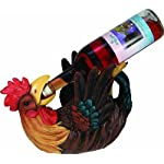 River's Edge Hand Painted Rooster Wine Bottle Holder