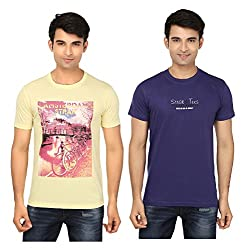 Strak Cotton Men's Casual T-Shirt (STR2045_XL)