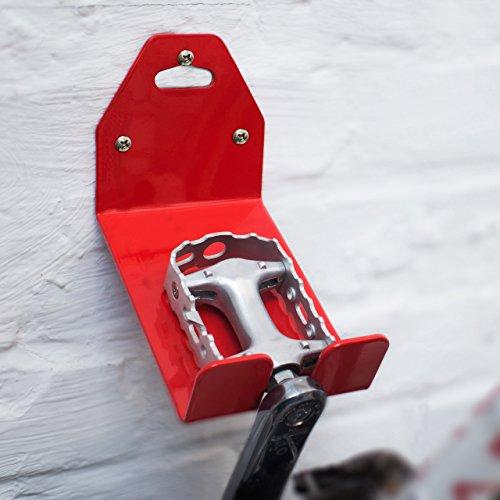 Relaxdays Rastrelliera Bicicletta Colore Rosso per Montaggio a Parete ...