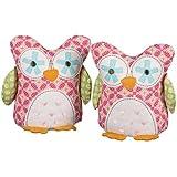 Lolli Living Bookend Friends - Fuchsia Tigerlily Owl
