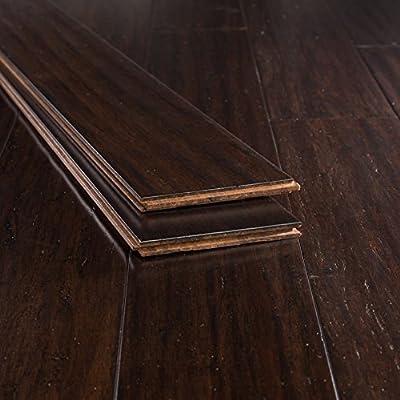 Bamboo Flooring Coffee Handscraped Strand
