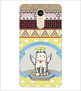 PrintDhaba Angel Cat D-4625 Back Case Cover for XIAOMI REDMI NOTE 3 (Multi-Coloured)
