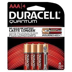 Duracell Quantum AAA 1.5V Alkaline Batteries - 4-Pack Retail Card