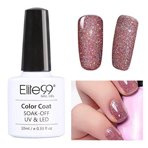 Elite99 Soak Off UV LED Gel Polish Bling Neon Color Nail Varnish Manicure Pedicure 10ML 3709 (Neon Gel Nail Polish compare prices)