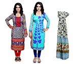 Indistar Women Pashmina Jaamavaar Digital Printed Unstitched Kurti Fabric Combo With Super Soft Cotton Stole