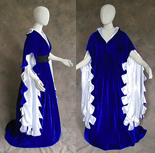 Blue Scalloped Renaissance Medieval Dress SCA Ren Faire Game of Thrones LOTR M