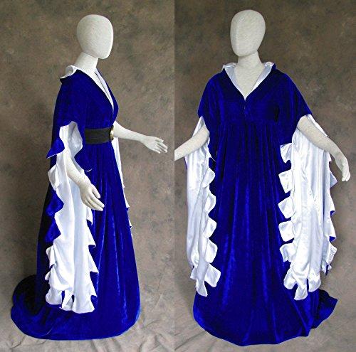Blue Scalloped Renaissance Medieval Dress Sca Ren Faire Game Of Thrones Lotr 3X