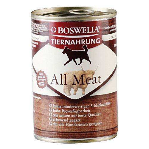 Artikelbild: ( 5,70 Euro pro kg ) Boswelia Tiernahrung All Meat Nassfutter für Hunde 400g