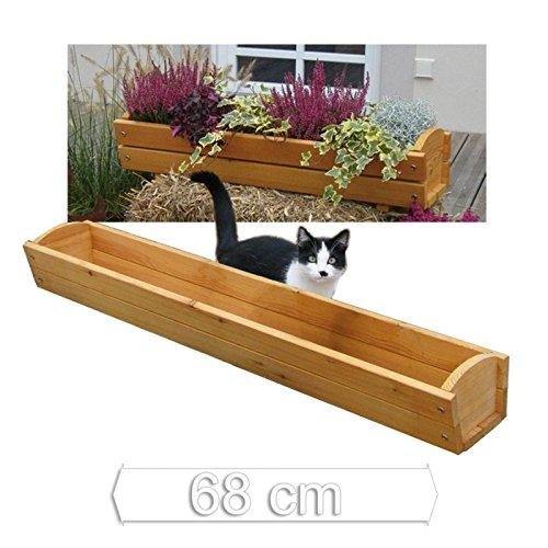 blumenkasten l nge 68 cm aus holz l rchenholz f r fensterbank von gartenpirat. Black Bedroom Furniture Sets. Home Design Ideas