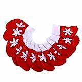 niceEshop(TM) Kit de 12 Pcs Pochettes à Couverts en Forme de Chaussette pour Décoration de Noël (Rouge et Blanc)...