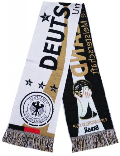 Deutschland Germany 2014 Worldcup Jacquard Scarf - Multicolour (Size: One Size) at Amazon.com