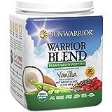 Sunwarrior Warrior Blend Raw Vegan Protein Powder, Vanilla 1.1 lbs