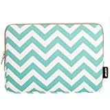 """Mosiso - 12-inch Chevron Hot Blue Canvas Fabric Sleeve Case Bag Cover for The New MacBook 12"""" with Retina Display - Chevron Hot Blue"""