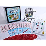 "Regal Games Jumbo Party Bingo Set with Jumbo Bingo Cards and 12"" Rotary Cage"