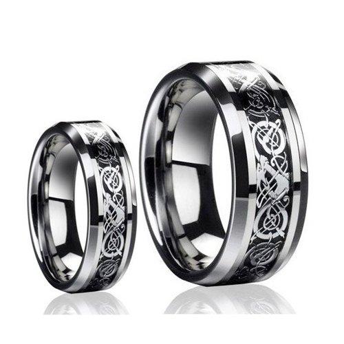 Tungsten Carbide Wedding Ring Sets 68 Ideal Dragon Design Tungsten Carbide