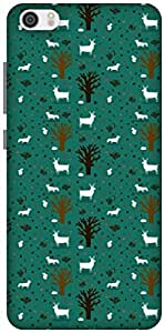 The Racoon Grip TREES AND DEER hard plastic printed back case / cover for Xiaomi Mi 5