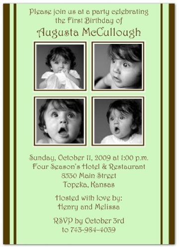 Contemporary Baby Shower Invitations