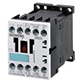 Siemens 3RT1015-1AB02 Contactor, rated at 7 A, 3 kW with a coil voltage of 24 V, 50/60 Hz with 1 NC auxiliary contact. Switching Voltage 400 V AC