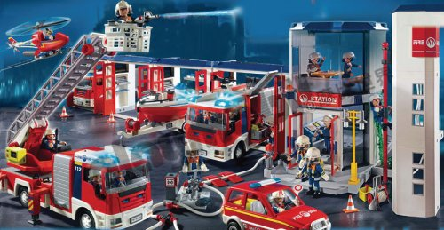 Emergency services figures playsets - Playmobil pompiers ...