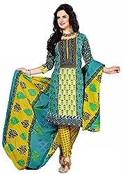 Fashionx Multi-color cotton printed unstitched dress material