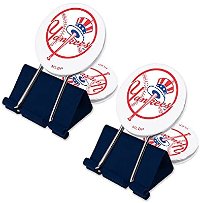 MLB New York Yankees Top Hat MyFanClip Multi Purpose Clips (Pack of 2)