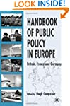 Handbook of Public Policy in Europe:...