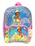 Disney Princess and the Frog Tiana Full Size 16 Inch Backpack with Detachable Lunch Box Bag
