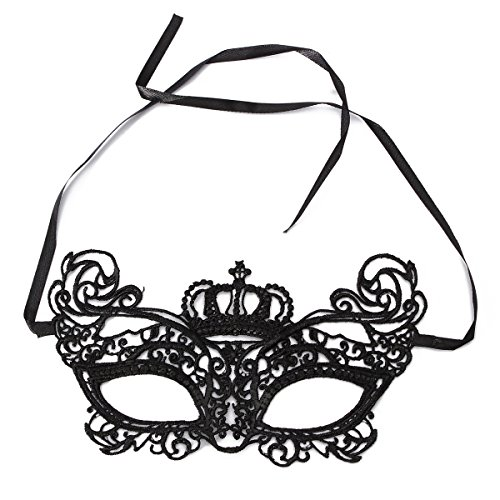 Audew The Queen's Crown Lace Mask Masquerade Ball Prom Halloween Costume Party