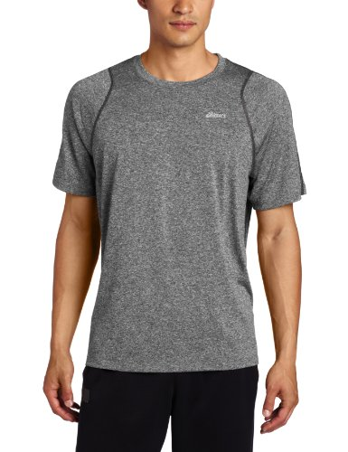ASICS Asics Men's Everyday Short Sleeve Shirt, Heather Iron, Medium