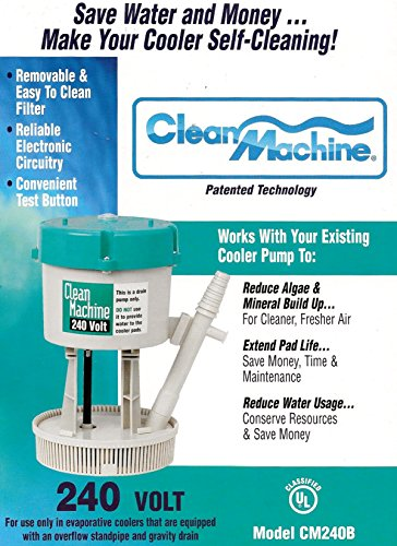 Mastercool CM240B Clean Machine Water Filter Pump System for Evaporative Cooler, 240V (Swamp Cooler Cleaner compare prices)