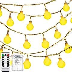 Oak Leaf 13-Foot 30-LED Starry Light Ball String Lights (Warm White)