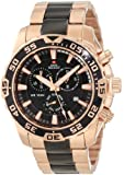 Swiss Precimax Men's SP12063 Formula-7 Pro Black Dial with Rose-Gold Stainless-Steel Band Watch
