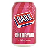 Barr Fizzy Drinks 4 Flavours Cherryade Cream Soda Lemonade Cola 330ml Pack Of 24 Cans (Barr Cream Soda 330ml Pack Of 24)