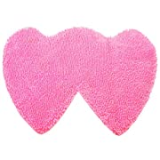YX-Yami Chenille Double Heart Rugs,Super Soft Anti-Skid Area Rugs Carpet, Bathroom, Bedroom, Stairs and New Home Floor Decorations (Pink)