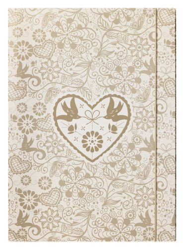 Golden Heart Luxury Wedding Storage File